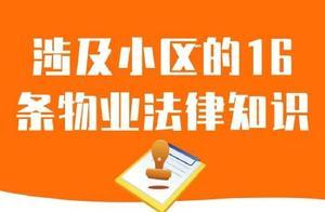 涉及小区的16条物业法律知识!