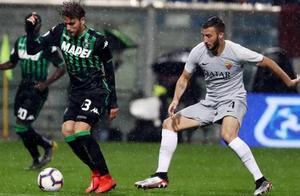 小克鲁伊维特中柱法齐奥进球被吹,罗马客场0-0萨索洛