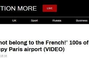 """数百名""""黑背心""""法国机场抗议,示威者高呼:法国不止属于法国人!"""