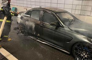 上中路隧道因轿车自燃封闭逾1小时,消防员徒步奔跑2.7公里扑灭明火
