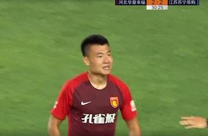 GIF:董学升破门扳平比分,华夏2-2苏宁