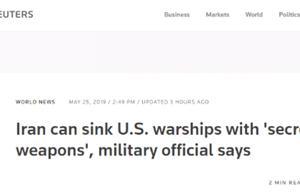 """伊朗放狠话:我们的""""秘密武器""""会炸沉美国舰艇"""