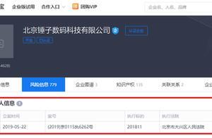 北京锤子数码成被执行人 罗永浩仍是公司执行董事