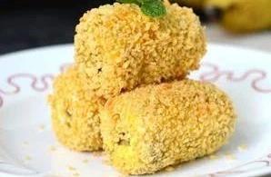 脆皮香蕉:色泽金黄,外脆里嫩,清香不上火,口味超赞
