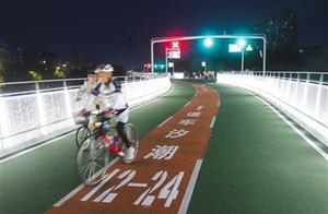 """北京自行车专用路现""""飙车族""""速度有的能赶上汽车"""