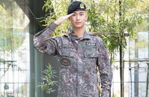 金秀贤将于7月1日退伍 军装照正式曝光帅气十足