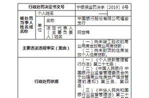 存在两大违规行为 中国银行福安支行被罚100万元