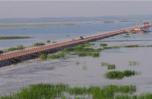 """鄱阳湖吴城再现""""中国最美的水上水上公路"""""""