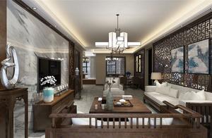 10万块钱装修的140平米的房子,中式风格简直太美了!-泰达城河与海装修