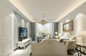 三居室的房子多大面积好?25万元的简欧风格设计说明!-都市花园装修