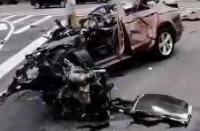 1人死亡!常州长江路附近发生严重车祸,车身被削掉一半!现场惨烈