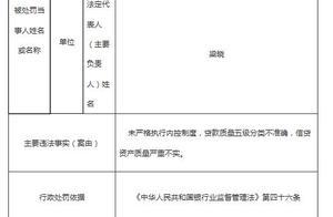 吉林银行大连3宗违法遭罚50万 信贷资产质量严重不实
