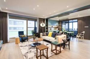 170㎡现代简约三室两厅,客餐厅横梁装成这样够漂亮