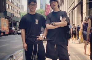 陈坤晒与儿子合照互称兄弟,17岁陈尊佑变高变帅样子越来越像陈坤