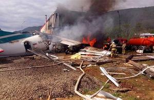 又一架俄罗斯航班迫降着火,跟上次如出一辙,总共造成数十人伤亡