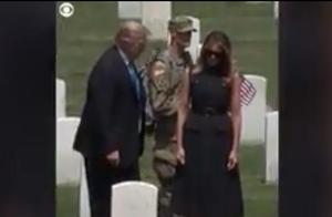阴谋论又起!第一夫人梅兰妮娅与特朗普访问公墓被网友质疑用替身