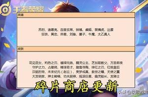 王者荣耀:功夫厨神首次加入碎片商店!还有新团战皮肤一同加入