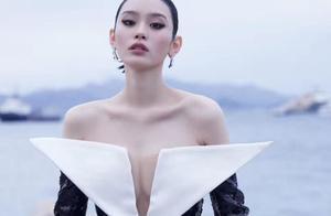 """奚梦瑶回应怀孕传闻后,穿""""三角裙""""亮相戛纳,腹部成焦点!"""