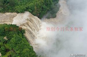 太震撼,贵州中部强降雨黄果树瀑布咆哮奔腾气势汹涌