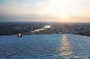 伦敦213米高楼楼顶将建世界首个四面无边泳池,人咋下水?