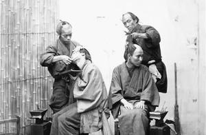 真实的日本武士罕见照,图2故意弄成秃头,图5射箭,看上去确实矮