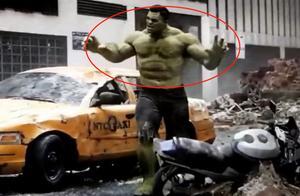 """复联4绿巨人浩克很弱?""""断臂""""依然力护队友,一人撑起整座大楼"""