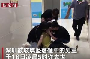 深圳被砸男童离世,母亲坐地痛哭,舅舅:三次抢救后没办法了