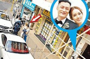 明星变吃瓜群众,余文乐夫妇笑看,香港主持人陈贝儿开车被追尾
