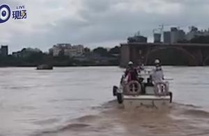 航拍:直击河源紫金桥垮塌事故现场