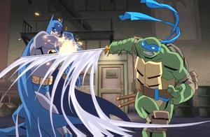 忍者神龟看上了蝙蝠侠的车 蝙蝠侠突然赶到胖揍忍者神龟四兄弟