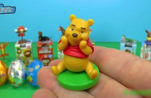 米老鼠玩具盒小动物巧克力惊喜蛋 小熊维尼汽车模型现身