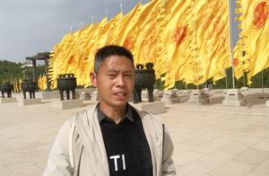 河南小伙参观黄帝陵,从小平原长大,为了爬山坚持不坐观光车