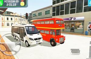 奇趣驾驶双层巴士闯关停车小游戏