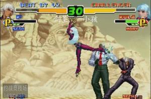 永恒唠游戏:拳皇2000中韩选手争夺10万元比赛名额,小孩动真格的了