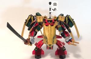 乐高幻影忍者70666武士机甲和70666黄金飞龙的完美组合