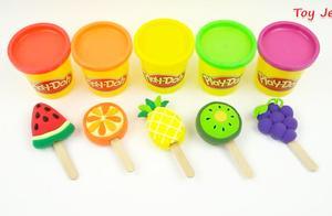 亲子益智-美味西瓜,橙子,弥猴桃,菠萝,葡萄冰淇淋出炉了
