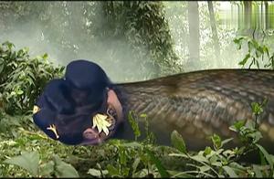 西游记:孙悟空在蛇妖肚子中,一个劲折磨蛇妖,随后灭了她!