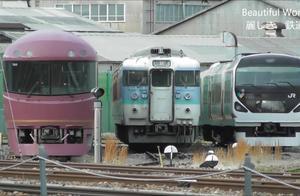 日本铁路 JR长野综合车辆中心 485系停放在废车停放处