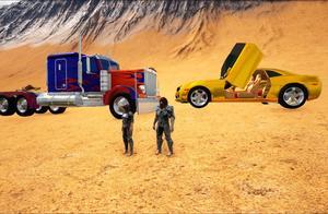 方舟生存进化-沙漠赛车 超牛卡车VS大黄蜂跑车 谁能拿冠军
