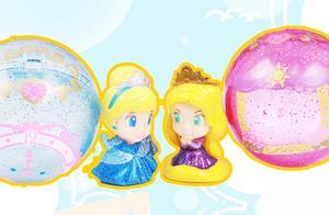 迪士尼公主:小扭蛋玩具有哪个公主,得到灰姑娘和长发公主