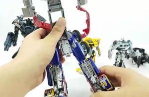 变形金刚擎天柱机器人玩具组装变形
