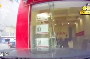 """岳阳一女司机驾车直撞店铺玻璃门,副驾座男子绝望""""五连吼"""""""