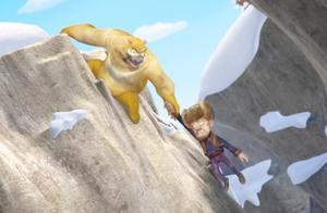 熊出没:光头强坠落悬崖!熊二奋力相救,真是患难见真情