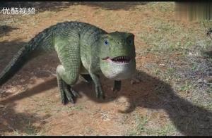 小恐龙被大恐龙追杀,结果霸王龙老爸来了,下一秒简直燃爆了!