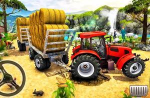 卡通拖拉机盘山运输钢材石材小游戏