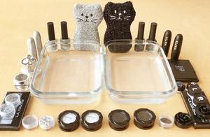 把银色和黑色过期化妆品混在水晶泥,无硼砂,你更喜欢哪一种?