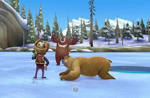 熊出没:光头强好坏!用陷阱将熊二控制,威胁熊大将他的车捞出