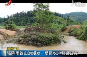 抚州广昌:强降雨致山洪爆发 受损农户积极自救