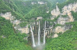 贵州深山里发现一瀑布,高100多米,比黄果树瀑布还高,人间仙境