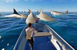 荒岛求生177:我深入极乐海域,遭遇巨型鲨鱼群,陷入险境